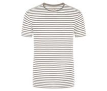 T-Shirt, O-Neck in Grau
