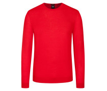 Basic Pullover, O-Neck, Slim Fit in Rot