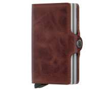 Geldbörse mit zwei Cardprotector-Fächern in Braun