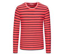 Gestreiftes Sweatshirt in Hellrot