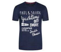 Bequemes T-Shirt, kontrastierende Aufschrift