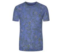 T-shirt, modischer Print in Royal