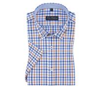 Kurzarmhemd mit praktischer Busttasche in Braun