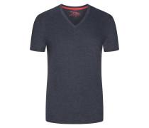 V-Neck Tshirt mit Brusttasche in Anthrazit