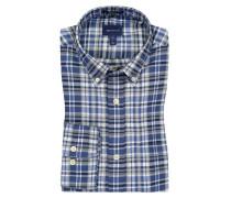 Kariertes Oberhemd mit Button-Down-Kragen in Blau