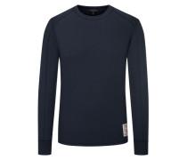 Sweatshirt mit Struktur-Muster in Blau