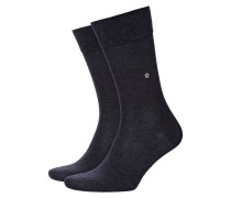 Socken im Baumwollmix, Lord in Anthrazit