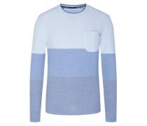 Sweatshirt mit Brusttasche, Blockstreifen