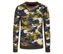 Sweatshirt mit Camouflage-Muster in Gruen