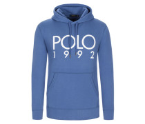Sweatshirt mit Frontprint in Blau