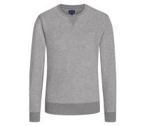 Sweatshirt mit Logo-Stickerei in Grau