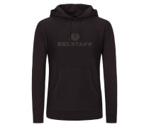 Sweatshirt mit Frontprint und Kapuze in Schwarz