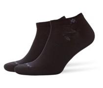 Sneaker-Socken im Doppelpack in Schwarz