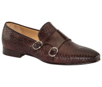 Loafer mit Doppelmonk-Verschluss in Dunkelbraun