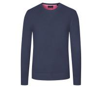 Pullover, Pima Cotton-Kaschmir-Mix in Marine