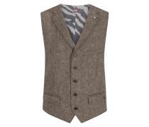 Weste im Donegal-Tweed in Braun