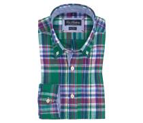 Klassisches Freizeithemd mit Button-Down-Kragen, Überkaro