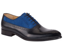 Zweifarbiger Businessschuh, Oxford in Blau