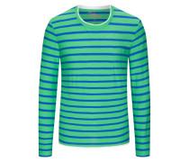 Gestreiftes Sweatshirt in Hellgruen