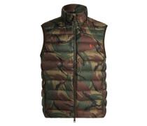 Daunenweste mit modischem Camouflage-Muster