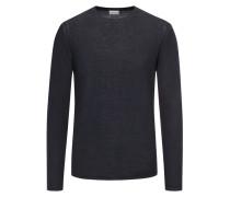 Pullover aus 100% Wolle in Marine