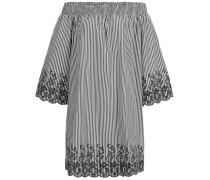 Off-Shoulder Kleid mit Stickerei