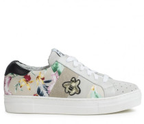 Sneakers mit Flower-Print