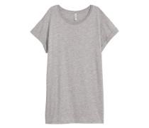 Langes T-Shirt - Graumeliert