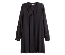 Kleid mit V-Ausschnitt - Schwarz