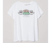 T-Shirt mit Druck - WeiB/Friends