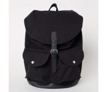 Rucksack aus Baumwollcanvas - Schwarz