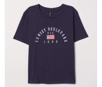 T-Shirt mit Druck - Dunkelblau/Sunset Boulevard