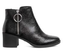 Ankleboots mit Zipper - Schwarz