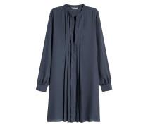 Kleid mit V-Ausschnitt - Dunkelblau