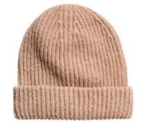 Mütze aus Mohairmischung - Beige