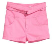 Shorts mit Gürtel - Rosa