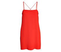Kleid aus Strukturstoff - Rot