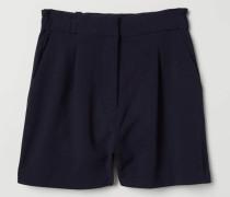 Shorts aus Viskosemischung - Dunkelblau