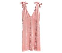 Kleid aus Crashsamt - Rosa