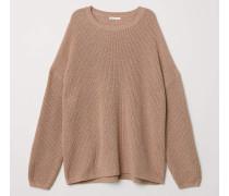 Gerippter Pullover - Beige
