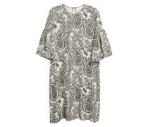 Kleid mit Volantärmeln - Hellbeige/Paisley