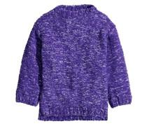 Pullover in Schwerstrick - Lila