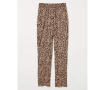 Jerseyhose - Beige/Leopardenmuster