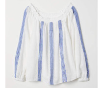 Off-Shoulder-Bluse - WeiB