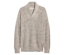 Pullover mit Schalkragen - Graumeliert