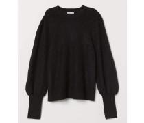 Pullover aus Mohairmischung - Schwarz