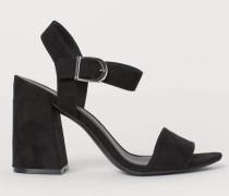 Sandaletten mit Blockabsatz - Schwarz