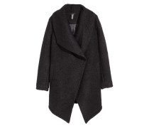 Zweireihiger Mantel - Schwarz