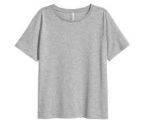 T-Shirt aus Baumwollmix - Graumeliert
