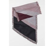 Schal mit Blockmuster - Rosa